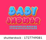 vector bright poster baby... | Shutterstock .eps vector #1727749081