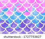 Blue Pink Mermaid Scales....