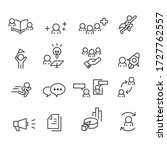 business and office icons set... | Shutterstock .eps vector #1727762557