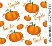 pumpkin pattern for fabric... | Shutterstock .eps vector #1727764984