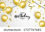 happy birthday balloons gold... | Shutterstock .eps vector #1727767681