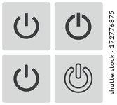vector black shut down icons... | Shutterstock .eps vector #172776875
