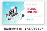 learn online  distance... | Shutterstock .eps vector #1727791627