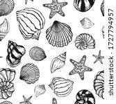 seamless black white pattern... | Shutterstock .eps vector #1727794957