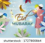 vector illustration of greeting ... | Shutterstock .eps vector #1727800864