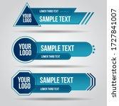 lower third tv blue design... | Shutterstock .eps vector #1727841007
