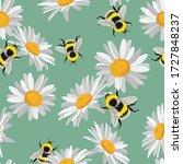 Seamless Pattern Of Daisy ...