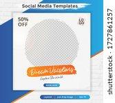 travel template post for social ... | Shutterstock .eps vector #1727861257