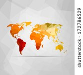 vector illustration of a world... | Shutterstock .eps vector #172786529