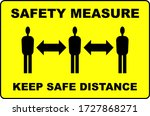 safety measures keep distance... | Shutterstock .eps vector #1727868271