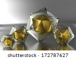 four colored prism on a smooth... | Shutterstock . vector #172787627