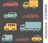 cars and trucks set | Shutterstock .eps vector #172788449
