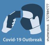 illustration covid 19 outbreak. ... | Shutterstock .eps vector #1727884777