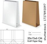 clear folding kraft paper bag... | Shutterstock .eps vector #1727892097