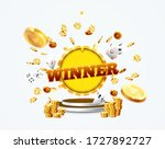 the word winner  surrounded by...   Shutterstock .eps vector #1727892727