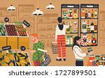cartoon people choosing and...   Shutterstock .eps vector #1727899501