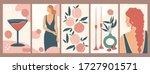 set of backgrounds for social... | Shutterstock .eps vector #1727901571