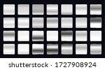 set of metallic steel or... | Shutterstock .eps vector #1727908924