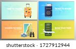 set of time to travel banners... | Shutterstock .eps vector #1727912944