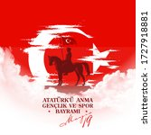 turkish national holiday... | Shutterstock .eps vector #1727918881