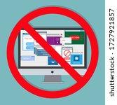 ad blocking  pop up ad blocker... | Shutterstock .eps vector #1727921857