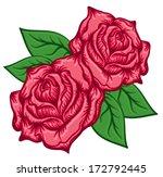 red roses bloomed | Shutterstock .eps vector #172792445