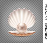 open seashell with a pearl... | Shutterstock .eps vector #1727925961