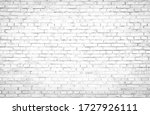 Abstract Old White Brick Wall...
