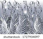 palm leaves modern pattern....   Shutterstock .eps vector #1727934097