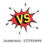 versus letters emblem on... | Shutterstock .eps vector #1727934694