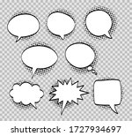 a set of comic bubbles and... | Shutterstock .eps vector #1727934697