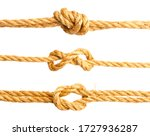 Three nautical knots made of...