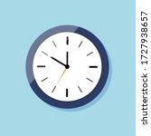 clock for wall on flat style.... | Shutterstock .eps vector #1727938657