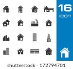 vector black building icons set ... | Shutterstock .eps vector #172794701