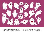 ghost colored sticker with... | Shutterstock .eps vector #1727957101