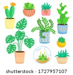 house indoor plant  potted... | Shutterstock .eps vector #1727957107