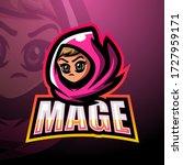 mage mascot esport logo design | Shutterstock .eps vector #1727959171