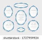 vector set of oval and round... | Shutterstock .eps vector #1727959924
