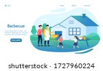 young happy family making a... | Shutterstock .eps vector #1727960224