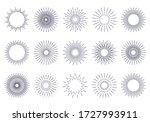bursting rays sunrise firework... | Shutterstock .eps vector #1727993911