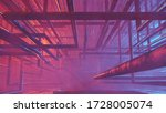3d rendering abstract tube and... | Shutterstock . vector #1728005074
