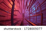 3d rendering abstract tube and... | Shutterstock . vector #1728005077