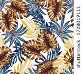 botanical seamless tropical... | Shutterstock .eps vector #1728019111