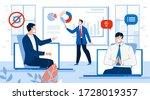 work online video conference... | Shutterstock . vector #1728019357