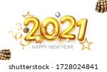 happy new 2021 year  realistic... | Shutterstock .eps vector #1728024841