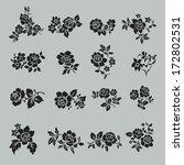 rose motif botanical set ... | Shutterstock .eps vector #172802531