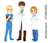 illustration of three hospital... | Shutterstock . vector #172802681