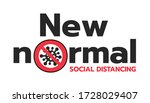 new normal after covid 19... | Shutterstock .eps vector #1728029407
