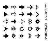 arrow icon set collection ... | Shutterstock .eps vector #1728044794
