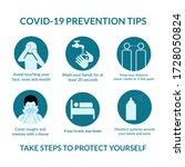 coronavirus prevention tips by...   Shutterstock . vector #1728050824